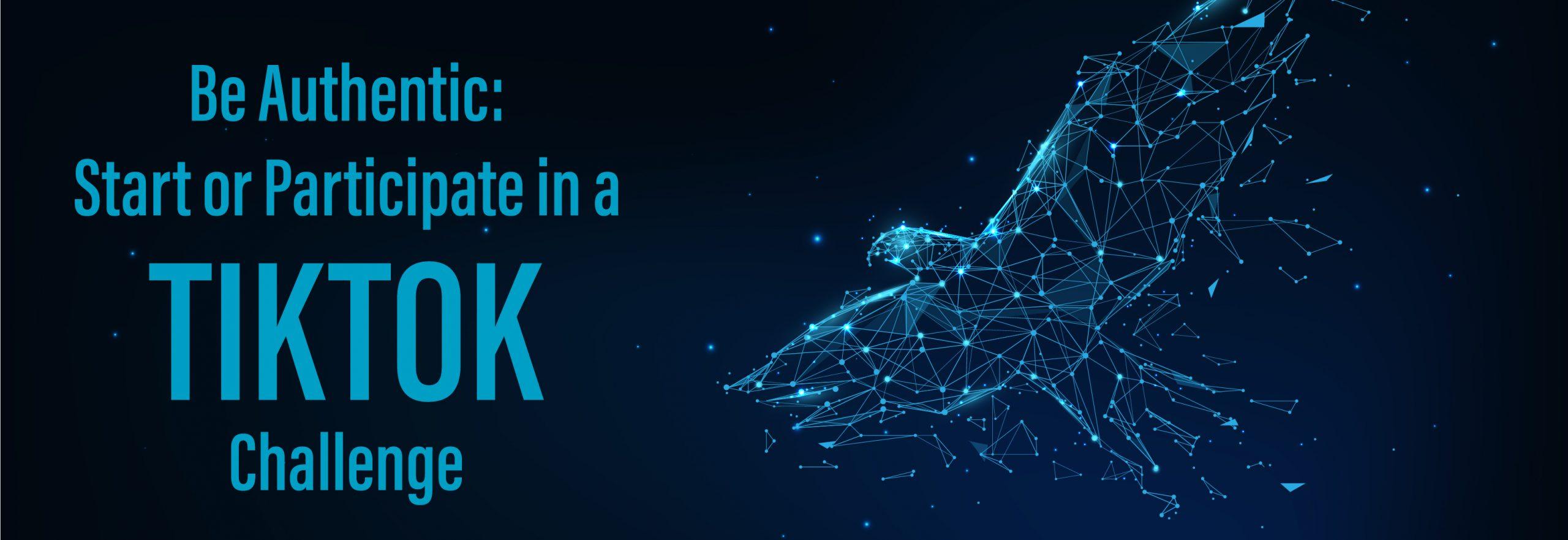 start or participate in tiktok challenge